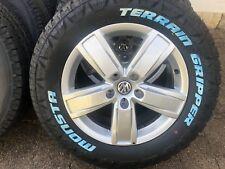 "4X GENUINE VW 18"" | AMAROK | 2019| HIGH LINE | ALLOYS & MONSTA ALL TERRAIN TYRES"