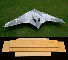 """81""""WS Horten Go-229 R/c plane short kit/semi kit and plans, DF or Slope Glider"""