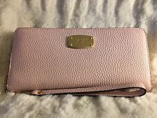 NWT MICHAEL KORS JET SET LEATHER TRAVEL CONTINENTAL WALLET/WRISTLET IN BLOSSOM