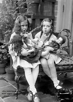 8x10 Vintage Girls Playing Dolls PHOTO Poster Cute Kids Creepy Scary Dolls,c1920