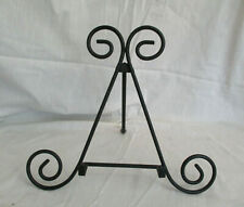 """Wrought Iron Table Picture Frame Display Easel  Black 11"""" H x 13"""" W"""