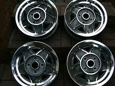 Genuine  Triumph Stag polished  Alloy Wheels Set Of four very nice
