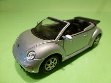 HONGWELL VW VOLKSWAGEN NEW BEETLE CONVERTIBLE - SILVER 1:43 - EXCELLENT