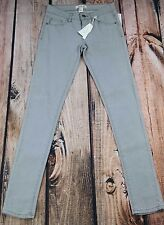 """forever 21 i love h81 gray skinny jeans womens  sz 24 NEW with tags 31"""" inseam"""