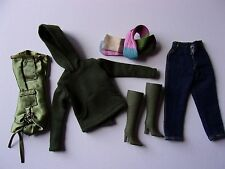 Barbie by Mattel Olive Fashion Hoodie~Jeans~Capris~Scarf & Candi Boots MINT!