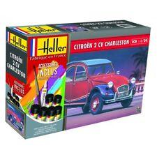 Heller 1/24 Citroen 2 Cv Charleston Ensemble Cadeau #56766