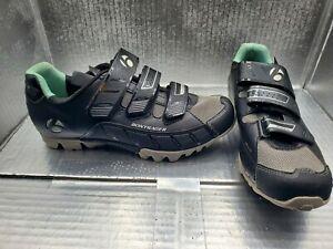 Bontrager Evoke Mountain Biking Shoes lack EVO MTB Hook and Loop Womens Size 7.5