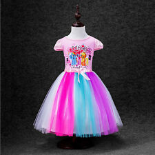 Girls My Little Pony Rainbow Dress - Age 3 4 5 6 7 Yrs Kids Summer Party Clothes