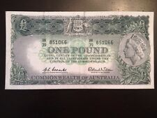 Reproduction Commonwealth Of Australia £1 1960 One Pound Note Queen Elizabeth II