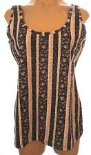 New Maurices M, medium floral striped sleeveless knit shirt tank top