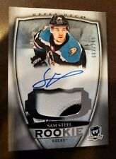 2018-19 UD THE CUP SAM STEEL ROOKIE RC AUTO PATCH 082/249 Anaheim Ducks
