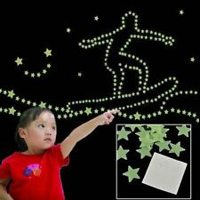 100PCS Wall Sticker Home Decor Glow In The Dark Stars Kids Livingroom Decal TL