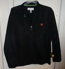 XL Mens Tehama Jacket Knit Golf Black Zip Fleece Lined 3 Pockets Light Long Slee