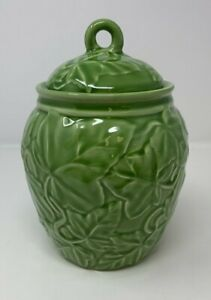 Franciscan Embossed Sculpted Ivy Canister Storage Jar