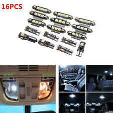 16 x White License Plate Lights + LED interior Bulbs Replacement Package Kit