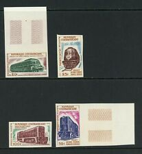 Central African Republic Scott #C13-C16 IMPERF MNH Locomotives Trains $$