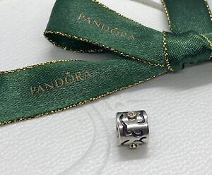 Pandora Life's Lifes Path Silver 14 Gold Two Tone Diamond Charm 790419 Authentic