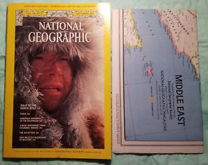 National Geographic September 1978 plus Map of the MIDDLE EAST-NORTH POLE