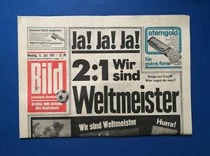 Bild Zeitung - WM - 8. 7. 1974 - Ja ! Ja ! Ja ! - 2 : 1  Wir sind Weltmeister