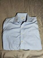 Barneys New York Mens Check Dress Shirt Business Casual Button Front size 15.5
