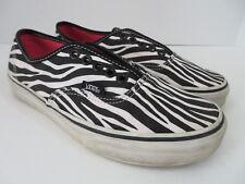 1376cb4b60a1b4 Off the Wall Vans Sneakers Zebra Print Black White Men 6.5 Womens 8  695