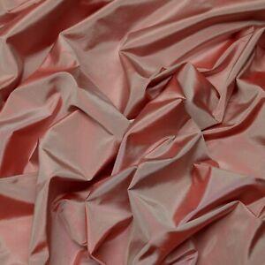 "Iridescent Dusty Rose 100% Silk Taffeta Fabric, 54"" Wide, By The Yard (TS-7001)"