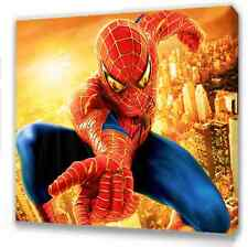 """Spiderman Canvas 10""""x10"""" Framed Picture S3"""