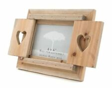 Chunky Shabby Chic Driftwood Picture / Photo Frame With Heart Shutters