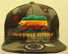 CAMO CALI CA CALIFORNIA REPUBLIC FLAG BEAR RASTA JAMAICAN SNAPBACK CAP HAT SWAG