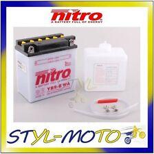 YB9-B BATTERIA BATTERY NITRO CON ACIDO VESPA PX 200E/EFL 1985