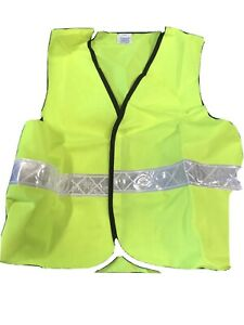 Fluorescent Yellow Safety Vest With Reflective Strip, PPE, Size Small