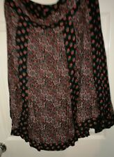 Black Floral lined Monsoon Skirt Size 16 (more 14)