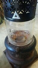 VINTAGE  PERFECTION 1527 OIL HEATER WITH GLASS GLOBE W/BOTTOM PAN