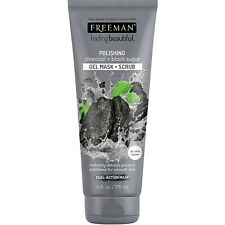 Freeman Polishing Charcoal + Black Sugar Gel Mask + Scrub 6 fl oz (175 mL)