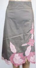 Jacqui E Nylon Solid Skirts for Women