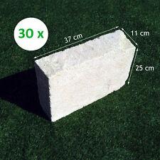 30 Mattoni di tufo chiaro 37x25x11cm blocchi per ornamento aiuole e giardino