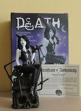 Death/Sandman Chris Bachalo dc Cold cast porcelain estatua barsom #0115/3000 nm