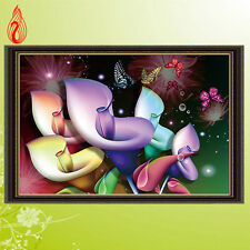 5D DIY Embroidery Dream Calla Lilies Round Diamonds Paintings Stitch Hand Mosaic