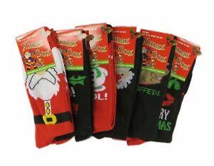 5 MENS CHRISTMAS SOCK Novelty Festive Secret Santa Dad Boy Family Sets Gift Idea