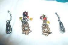 Vintage Sewing Items Jewelry 2 Owls With Beads And 2 Other Items?Pendant/Charm