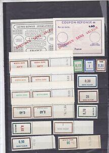 FRANCE 2 COUPON REPONSE + 36 SANS VALEUR ** PERIODE 1954 à 1976