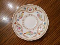 Vintage CROWN STAFFORDSHIRE Floral & Laurels Pattern #15744 Saucer for Tea Cup