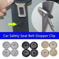 10Pairs Universal Clip Seat Belt Stopper Buckle Button Fastener Safety Car O4W5