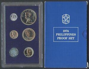 1974 Philippine PROOF Set Banko Sental / Pilipino Ser / Filipino Heroes Coin #B7