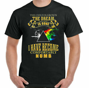 PINK FLOYD T-SHIRT, Mens Dark Side of the Moon Comfortably Numb Dave Gilmour TEE