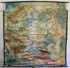 Schulwandkarte Map Eastern Europe Poland Russia Scandinavia 198x200cm 1938