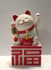 "4"" Chinese Feng Shui Maneki Neko Good Fortune Waving Lucky Beckoning Cat"