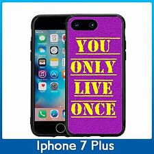 YOLO You Only Live Once For Iphone 7 Plus & Iphone 8 Plus (5.5) Case CoverPurpl