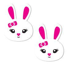 Cache-tétons nippies pasties adhésifs lapins bunny rabbit blanc sexy original