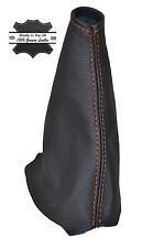 ORANGE STITCH FITS VOLVO S40 V50 2004-2012 HANDBRAKE GAITER REAL LEATHER
